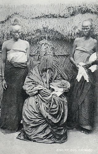 The Alaafin of Oyo, crowned, circa 1900